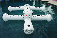 INFLATABLE DOG FLOAT